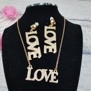 LOVE SET of Earrings and Necklace